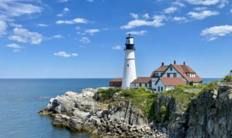 A lighthouse in Maine, USA