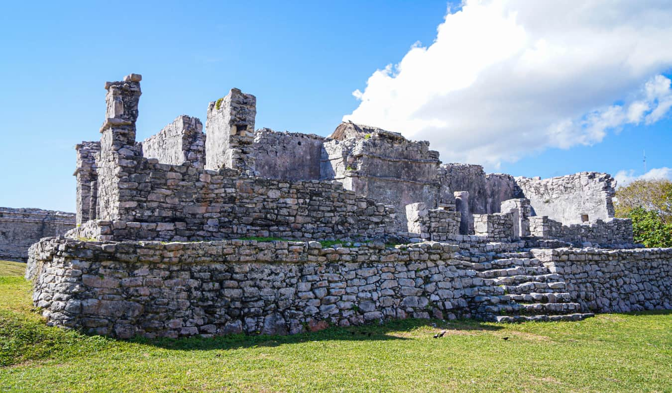 The ancient ruins in Tulum, Mexico