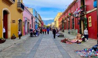 The narrow, colorful streets of Oaxaca, Mexico