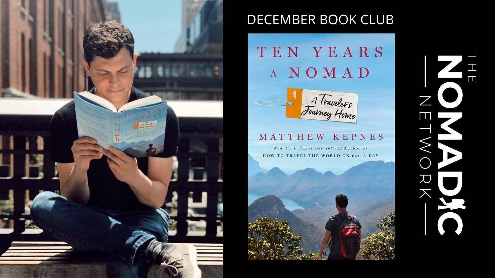 Nomadic Matt reading Ten Years a Nomad