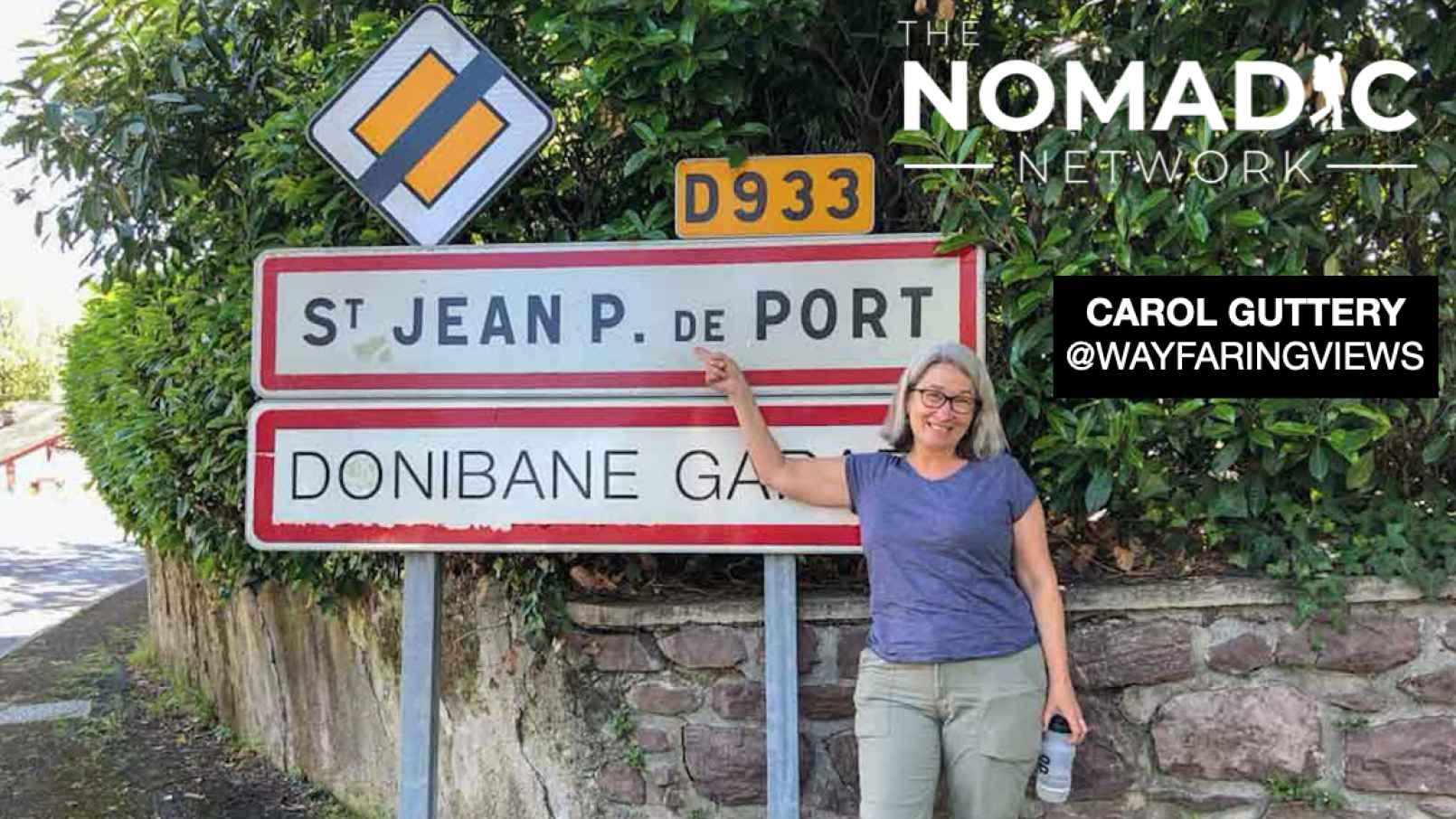 Carol posing on the Camino