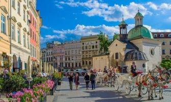 A sunny day in Krakow, Poland