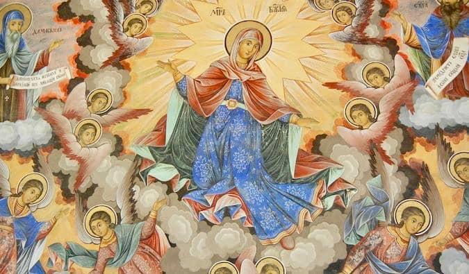 Religious art in a church in Bulgaria