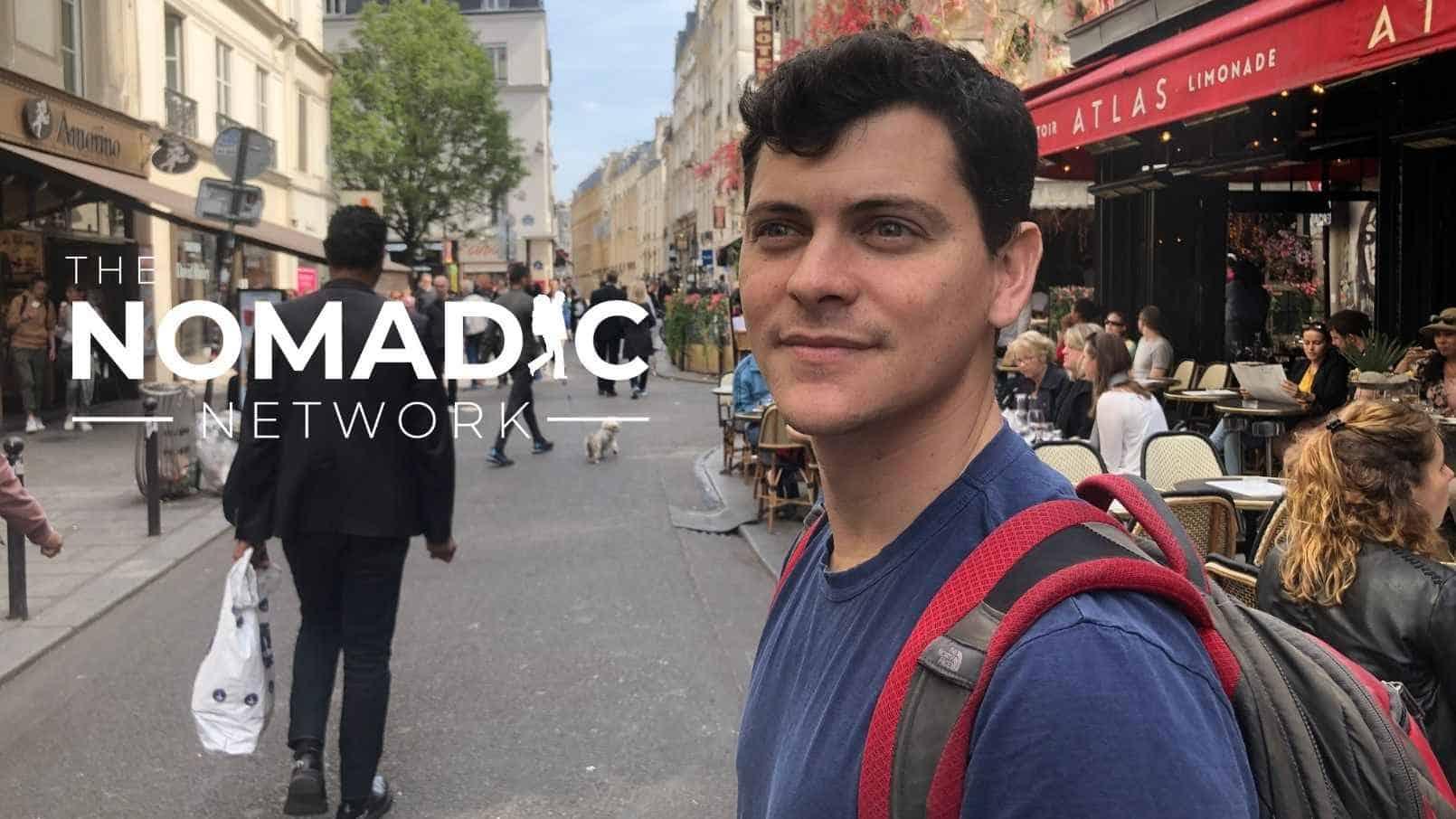 Nomadic Matt posing in Paris, France