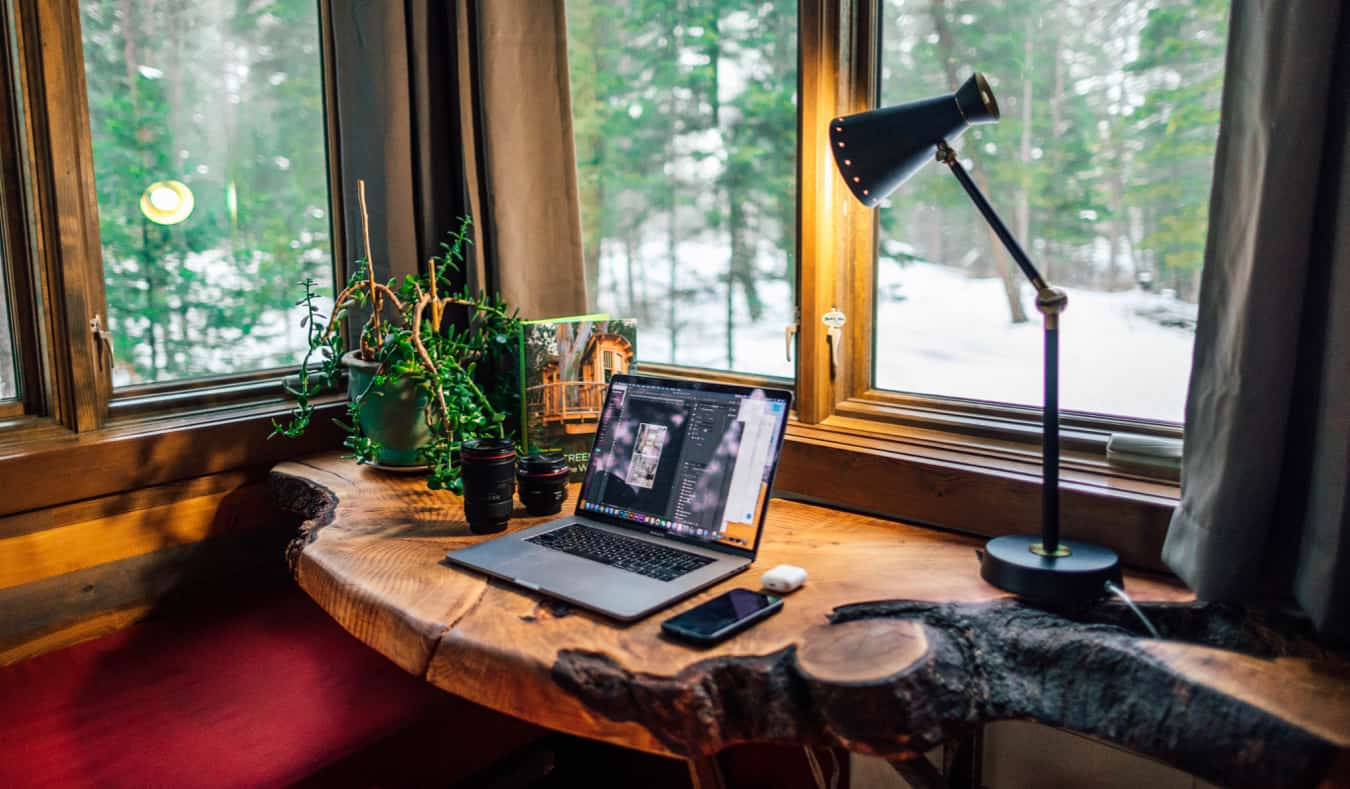 A cozy home office