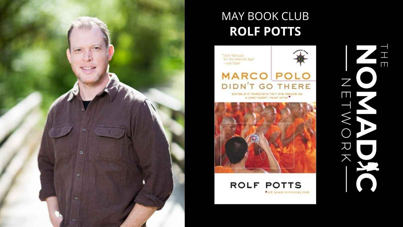 marco polo didn't go there book by rolf potts man standing on bridge