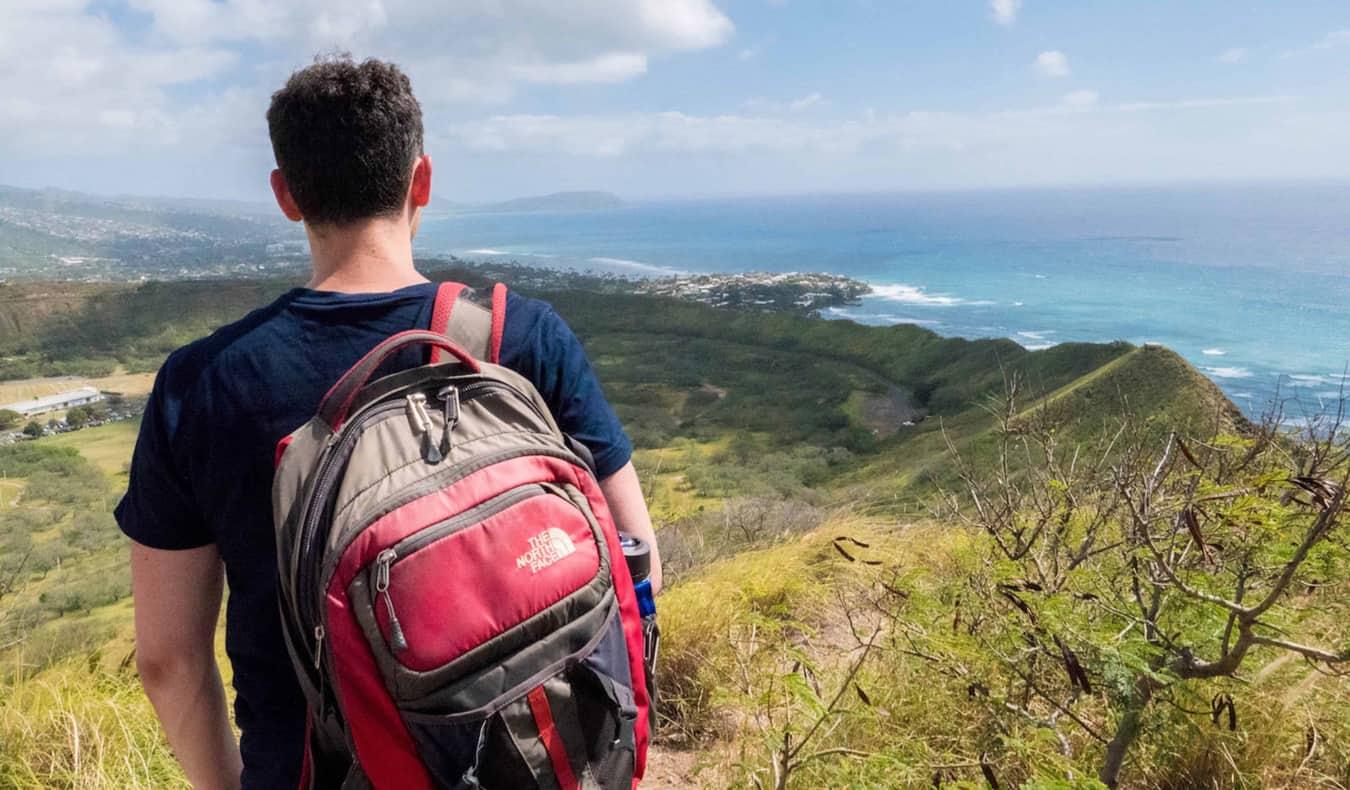 Nomadic Matt enjoying the view in hawaii