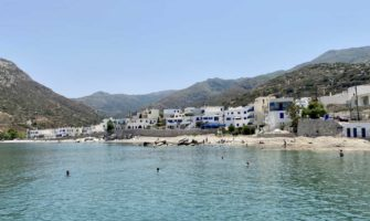 A relaxing beach in Naxos, Greece