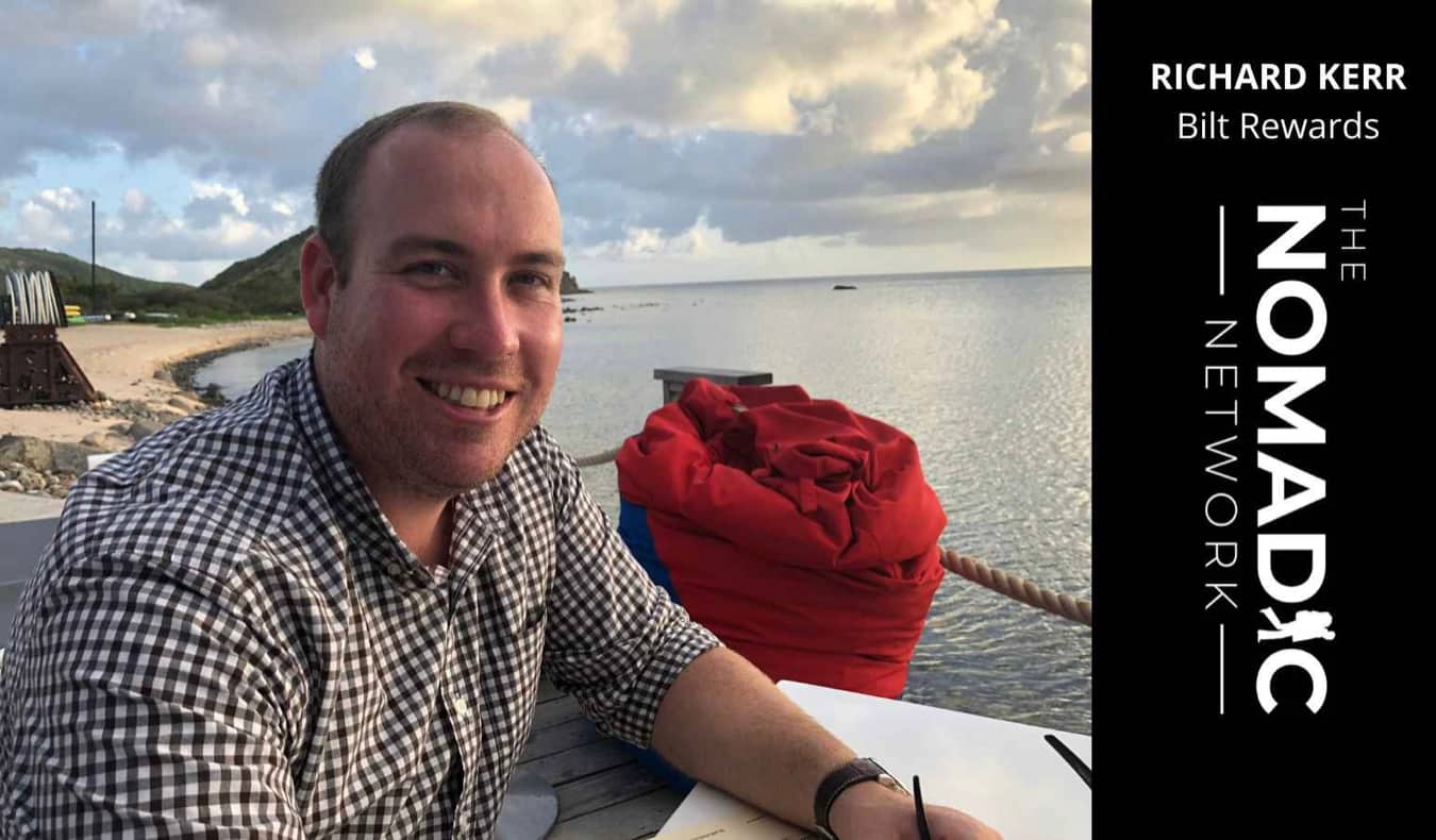 Richard Kerr, a travel hacker, posing for a photo abroad