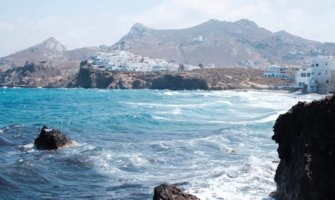 The clear, vibrant waters of Naxos, Greece