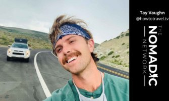 tay vaugn hitchhiking to public lands in America while budget traveling