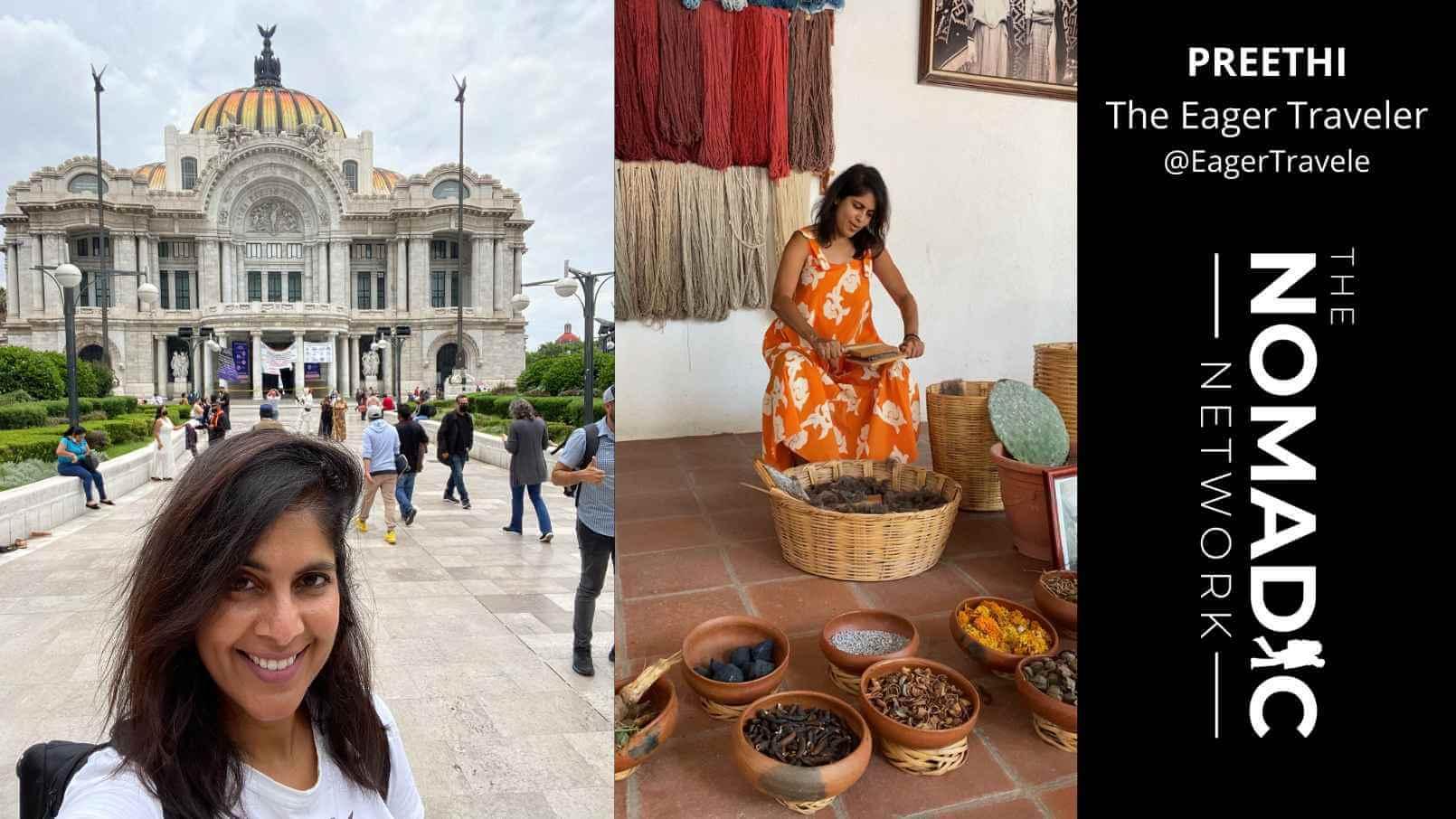 preethi traveling around Mexico City